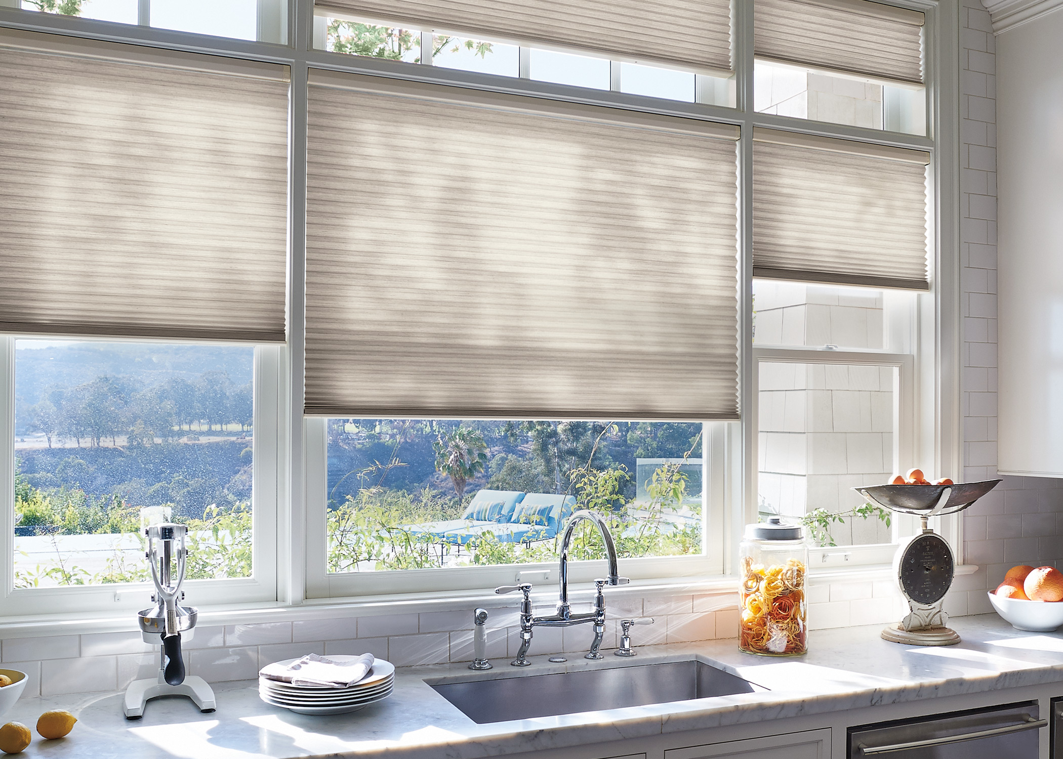 blinds fabric solar shades hunter brunswick angora roller designer carousel window in douglas treatments douglass